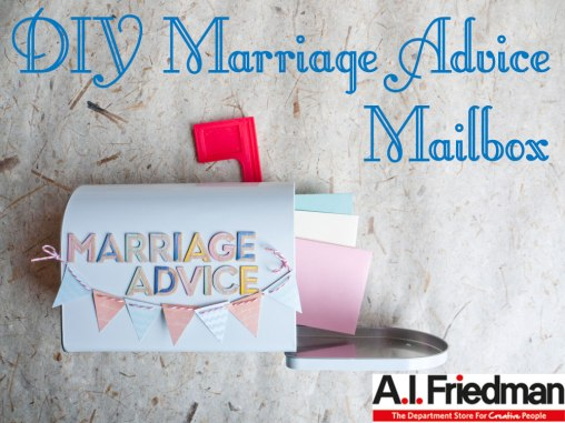 DIY Marriage Advice Mailbox
