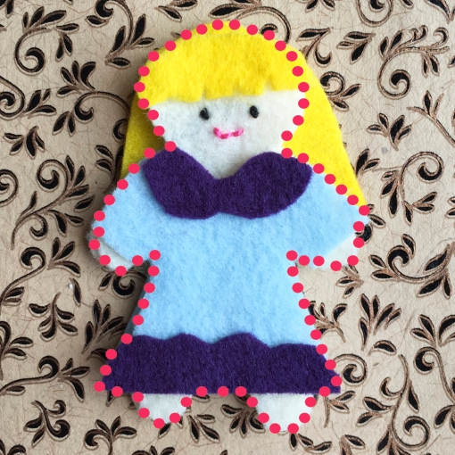 Where to sew your Thumbelina Doll