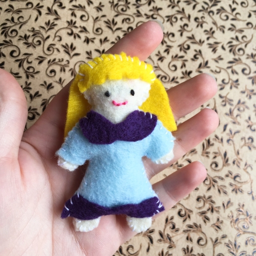 Finished Thumbelina Doll