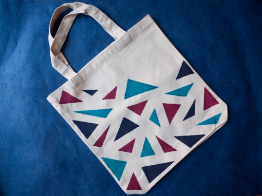 Completed Geometric Totebag Project - DIY With A.I. Friedman