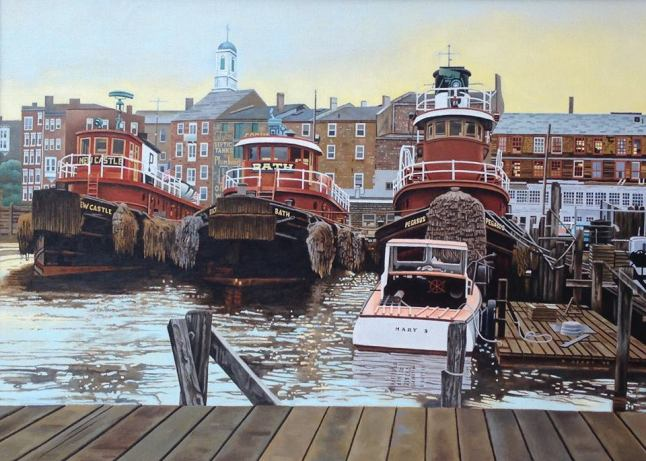 Tugs at Portsmouth by Peter Jerry