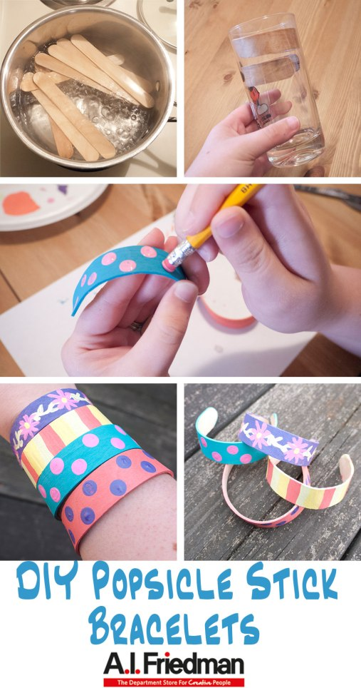 DIY Popsicle Stick Bracelets Tutorial
