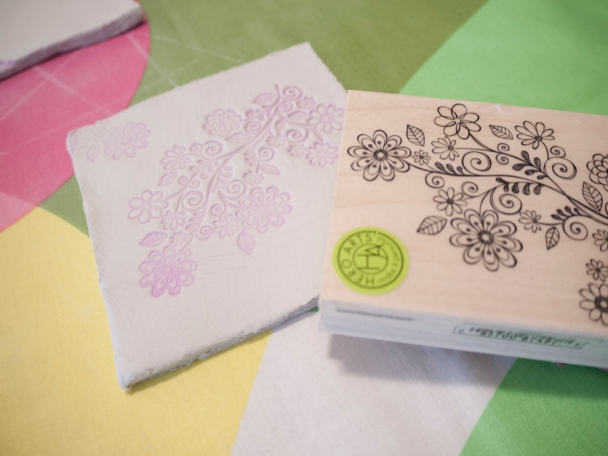Make patterns with your stamp