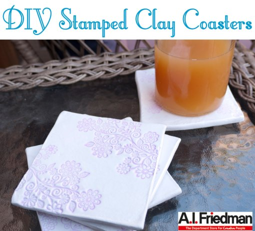 DIY Stamped Clay Coasters