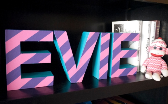All finished! Fun Kid's Name Decoration DIY Project