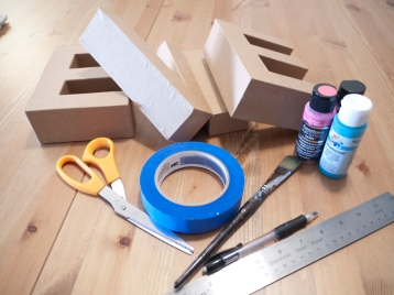 Materials needed for decorated letters
