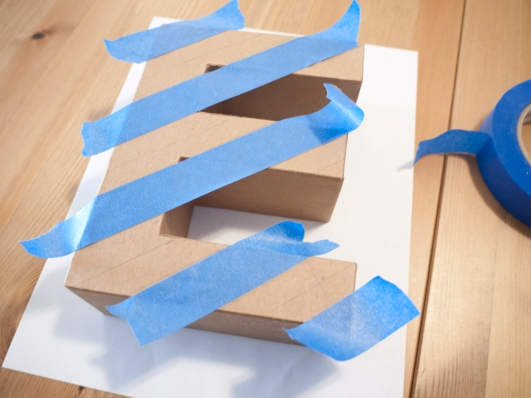 Make stripes with the painter's tape
