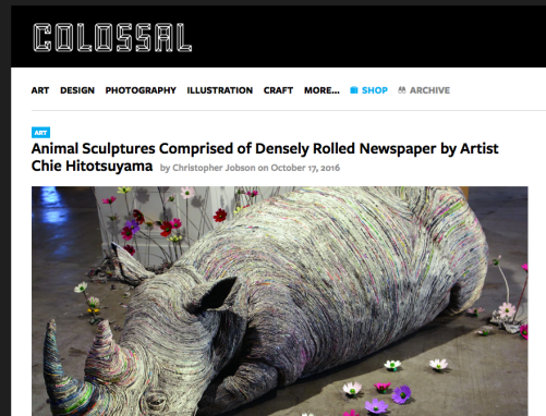 Colossal art blog
