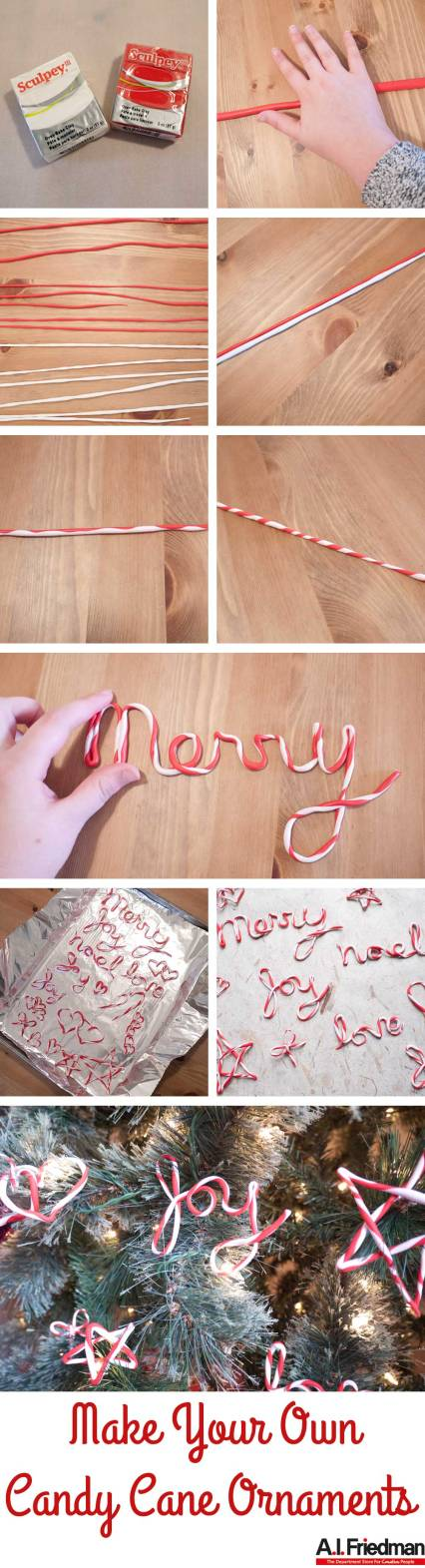 Make Your Own Candy Cane Ornaments