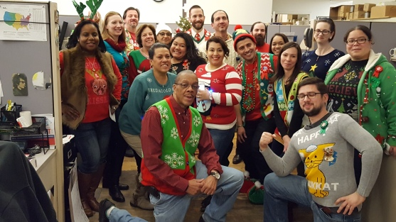 All of the ugly Christmas Sweaters at 18th Street