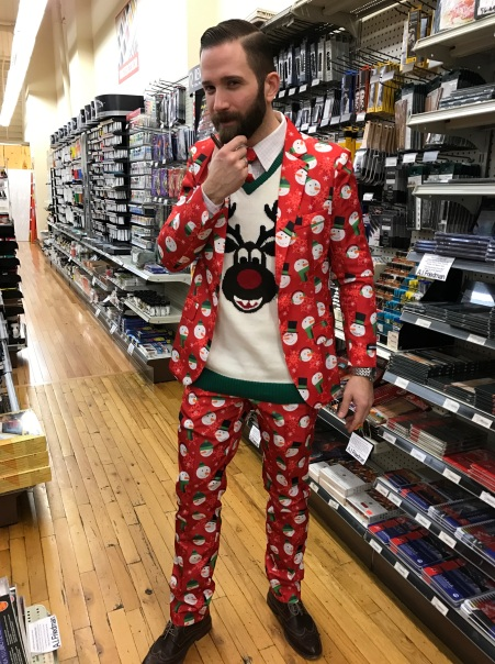 Andrew's amazing Christmas Suit