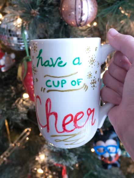Finished Quick Holiday Mug DIY Gift Project