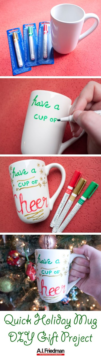 Quick Holiday Mug DIY Gift Project by A.I. Friedman
