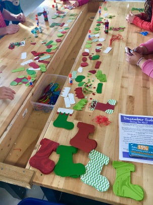 Stocking craft at the Westchester Children's Museum