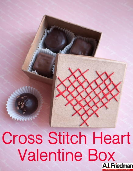 Cross Stitch Heart Valentine Box DIY With A.I. Friedman
