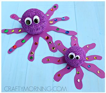 Foam Ball Octopus Craft
