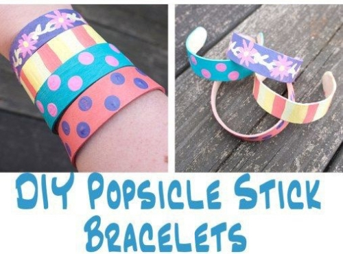 DIY Popsicle Stick Bracelets